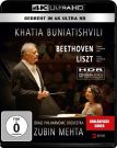 Khatia Buniatishvili and Zubin Mehta [4K Ultra HD Blu-ray] Liszt and Beethoven